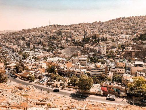 Ausblick auf die Stadt Zitadellenhuegel Amman Jordanien