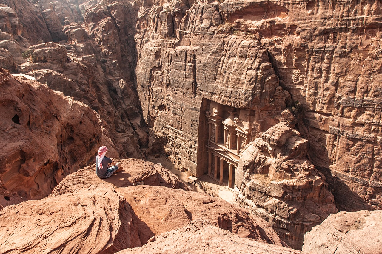 jordanien reisetipps felsenstadt petra schatzhaus aussichtspunkt