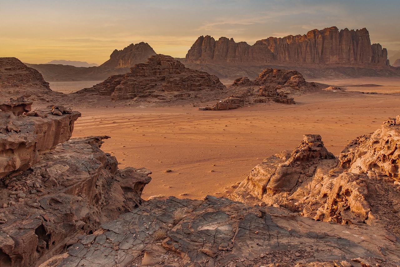jordanien reisetipps wueste wadi rum sonnenuntergang