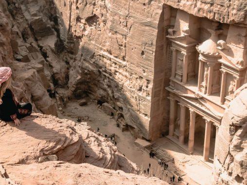 felsenstadt petra jordanien Highlights Jordanien Aussicht The Treasury Petra Jordanien