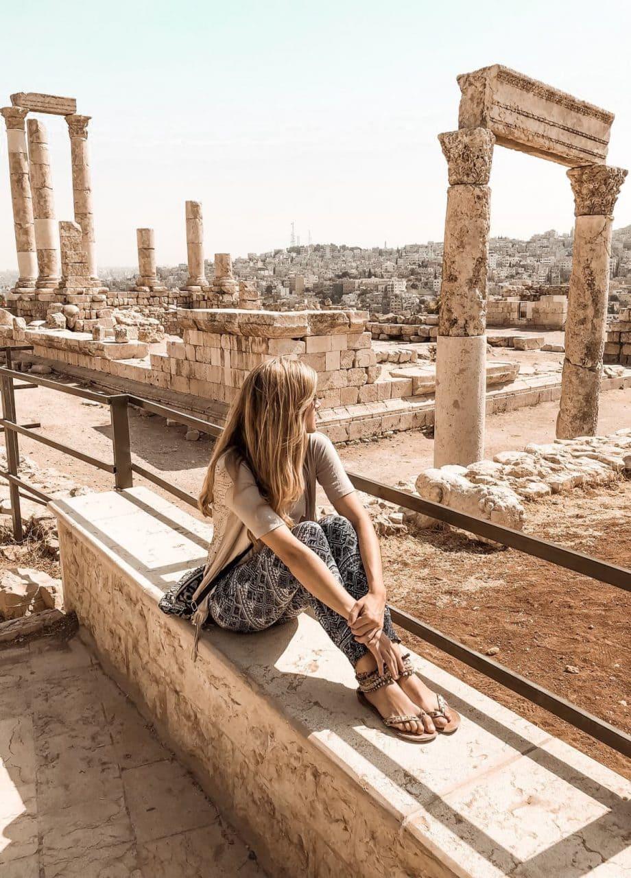 Jordanien Amman Sehenswuerdigkeiten roemische Ruinen Zitadellenhuegel