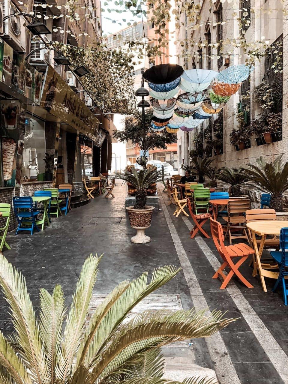Bunte Strasse Amman Jordanien