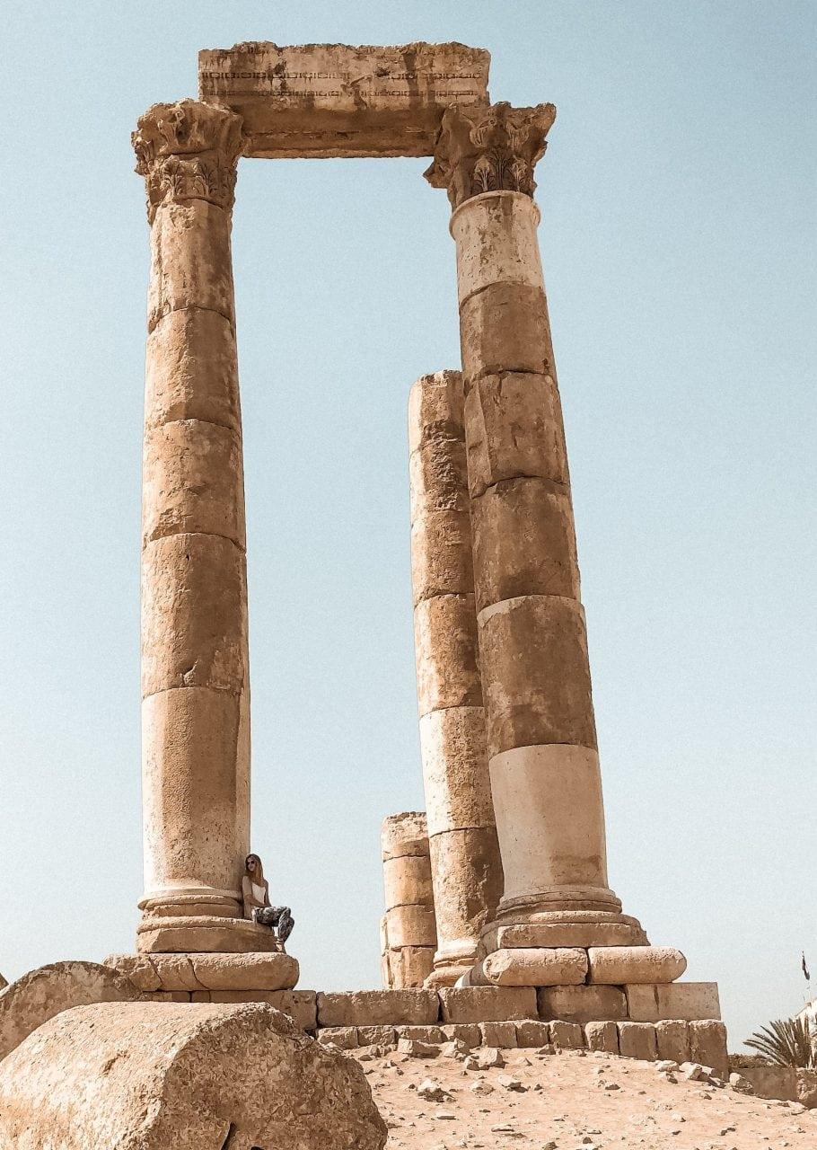 Jordanien Amman Sehenswuerdigkeiten Herkules Tempel Zitadellenhuegel