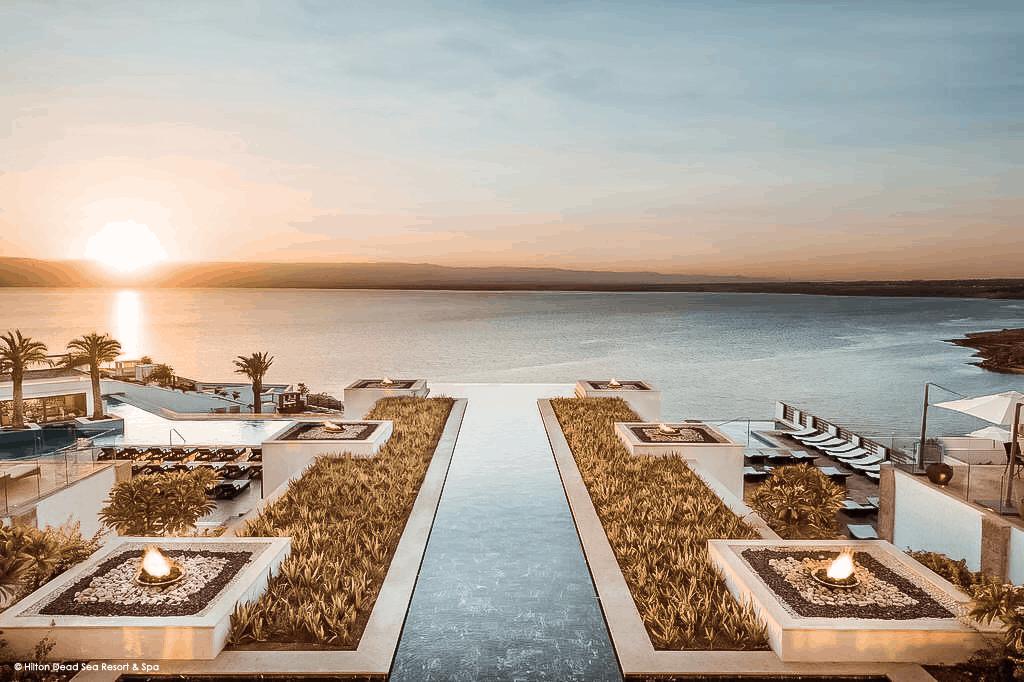 Hilton Dead Sea Resort Sonnenuntergang