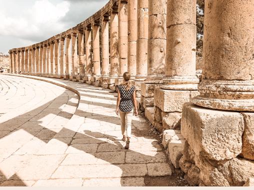 Highlights Jordanien Jerash Ruinen Oval Plaza