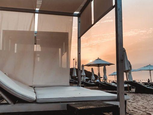 Sonnenuntergang Strand Totes Meer Jordanien