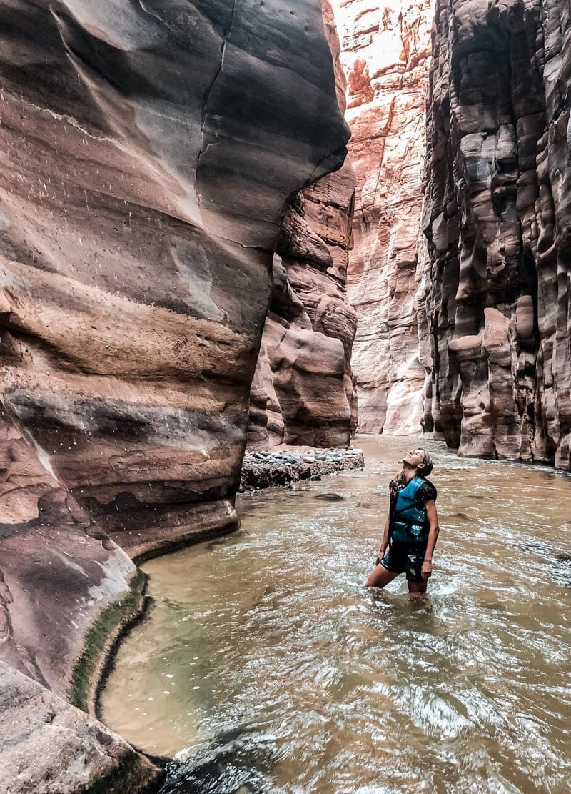 Highlights Jordanien Canyon Schlucht Wadi Mujib Jordanien