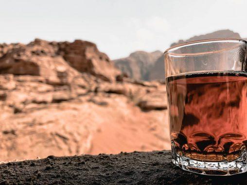 Beduinen Einladung Teepause Wadi Rum Wüste Jordanien