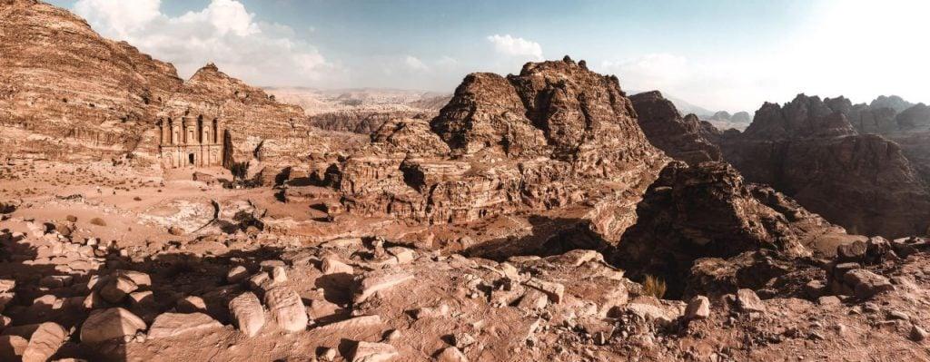Sehenswürdigkeiten Petra Kloster Ad Deir Panoramablick