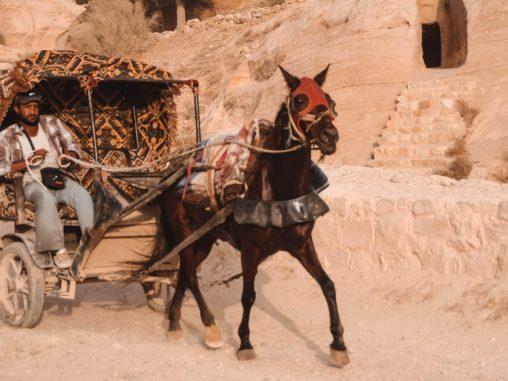 Pferdekutschen Petra Jordanien