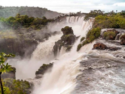 Iguazu Wasserfälle Argentinien Ausblick