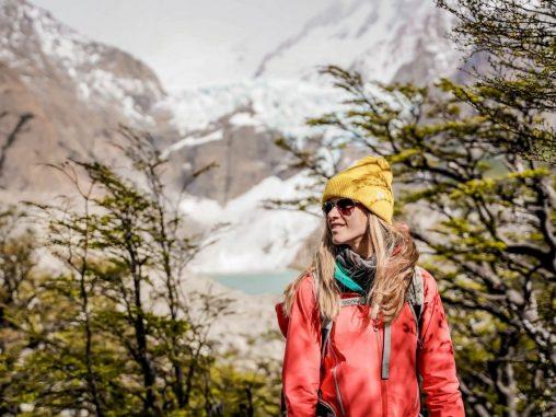 fitz roy el chalten Wandern in Patagonien Piedras Blancas Gletscher