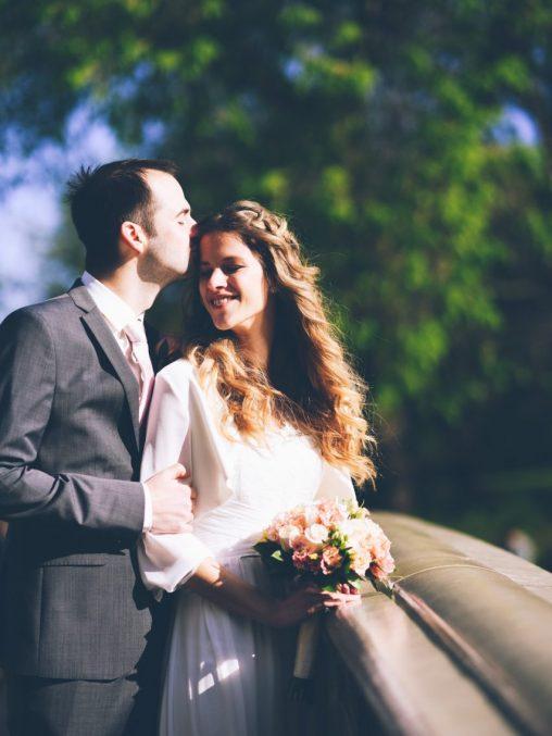 Brautpaar Hochzeit New York Bow Bridge