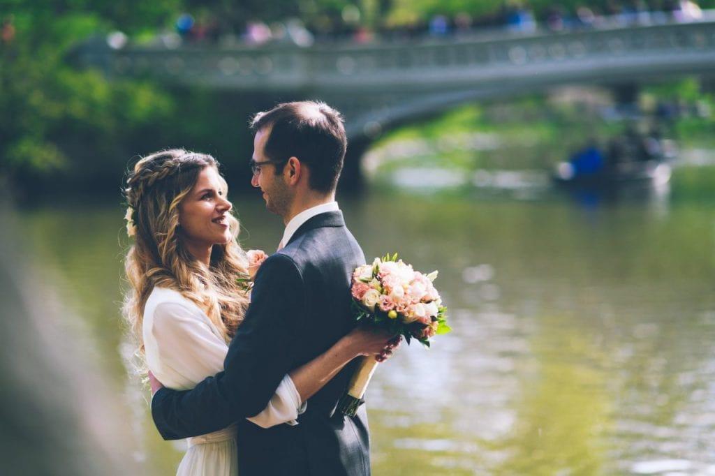 Brautpaar Hochzeit im Central Park New York City
