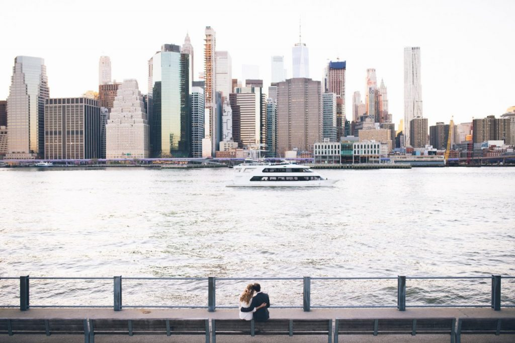 Heiraten in New York Aussicht Skyline
