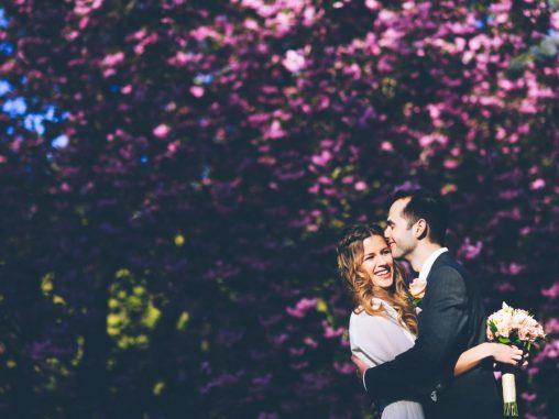Heiraten in New York Hochzeitsfotos Central Park Kirschblüten