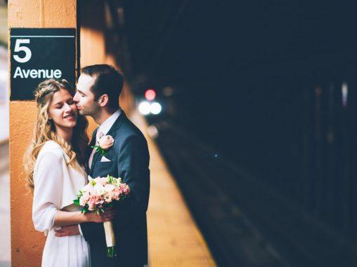 Bilder Hochzeit New York Subway
