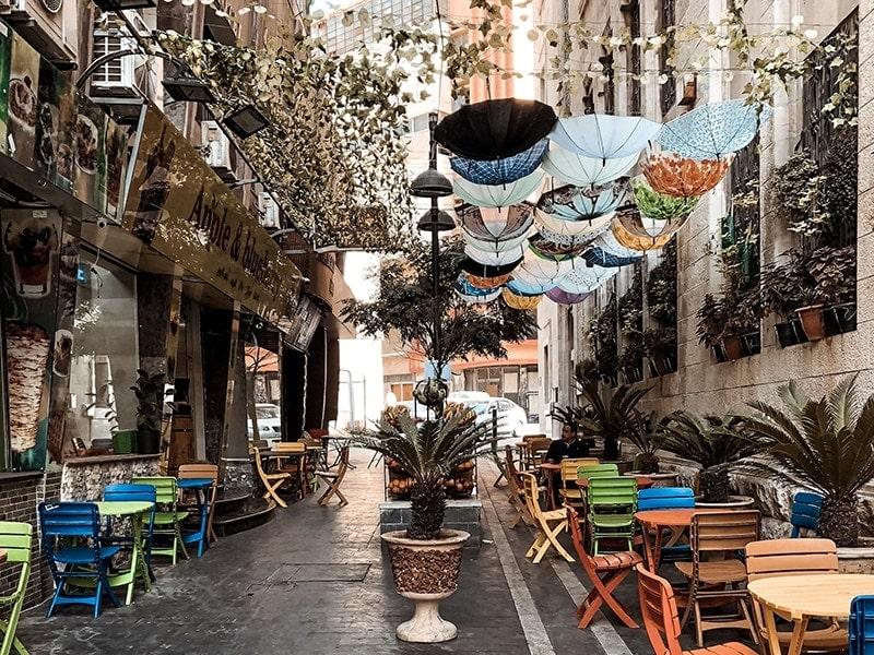 Sehenswürdigkeiten Bunte Gasse Amman Jordanien