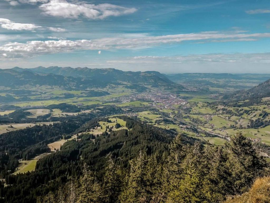 Ausblick Allgäu Hornbahn Hindelang