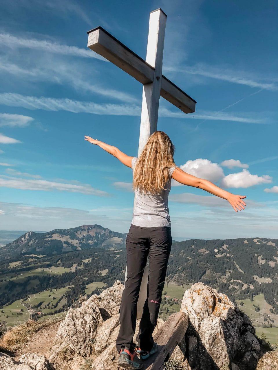 Gipfelkreuz Imberger Horn Allgäu Ausflugstipps