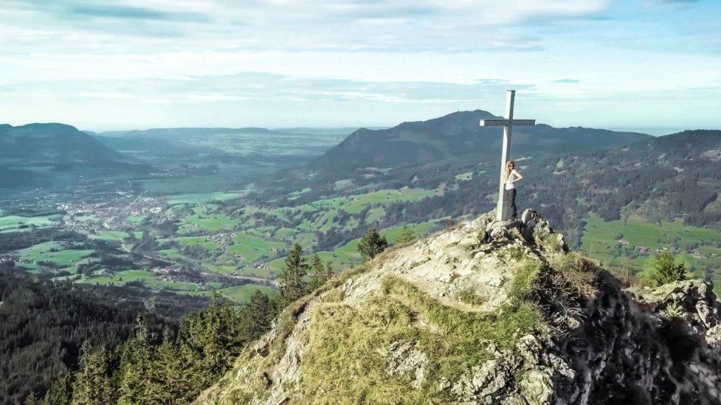 Drohnenaufnahme Imberger Horn Gipfel