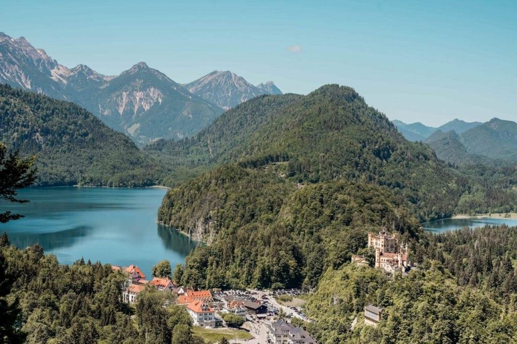 Sehenswürdigkeiten Allgäu Schloss Hohenschwangau und Alpsee