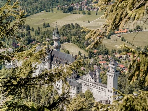 Wanderung Schloss Neuschwanstein Aussicht Wanderweg