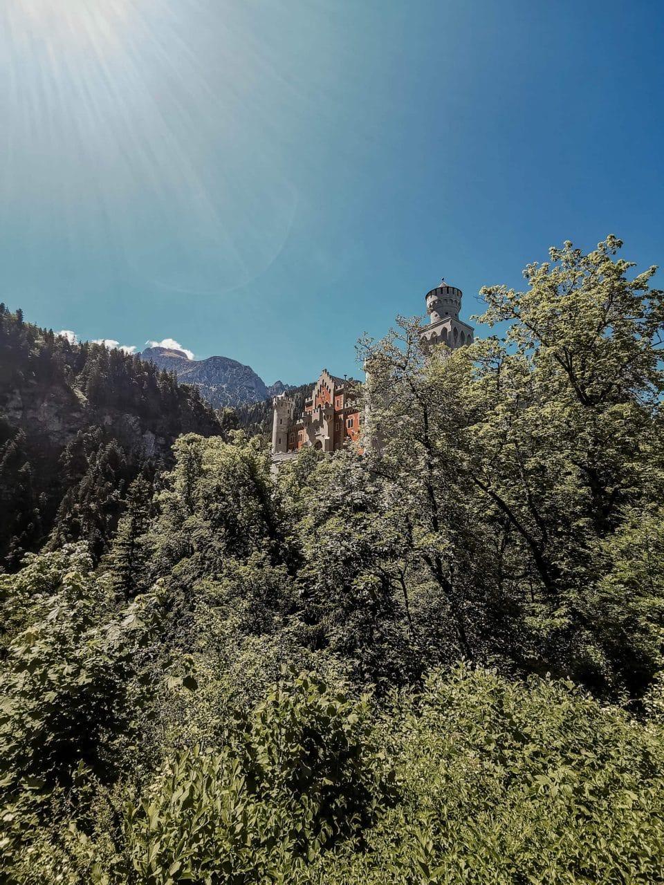 Ausblick Schloss Neuschwanstein Schwangau