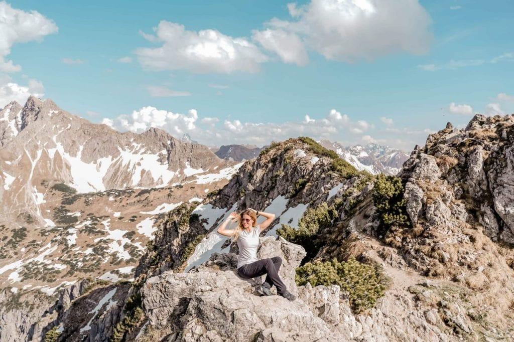 deutschland reisetipps wanderung zum gaisalpsee Rubihorn Gipfel Ausblick Allgäuer Bergewelt