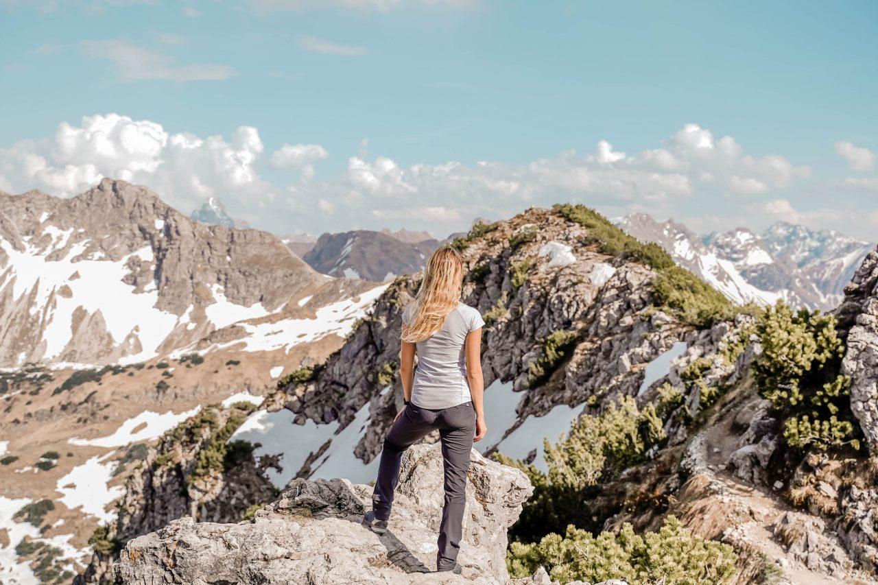 wanderung zum gaisalpsee gipfel rubihorn ausblick allgäuer alpen
