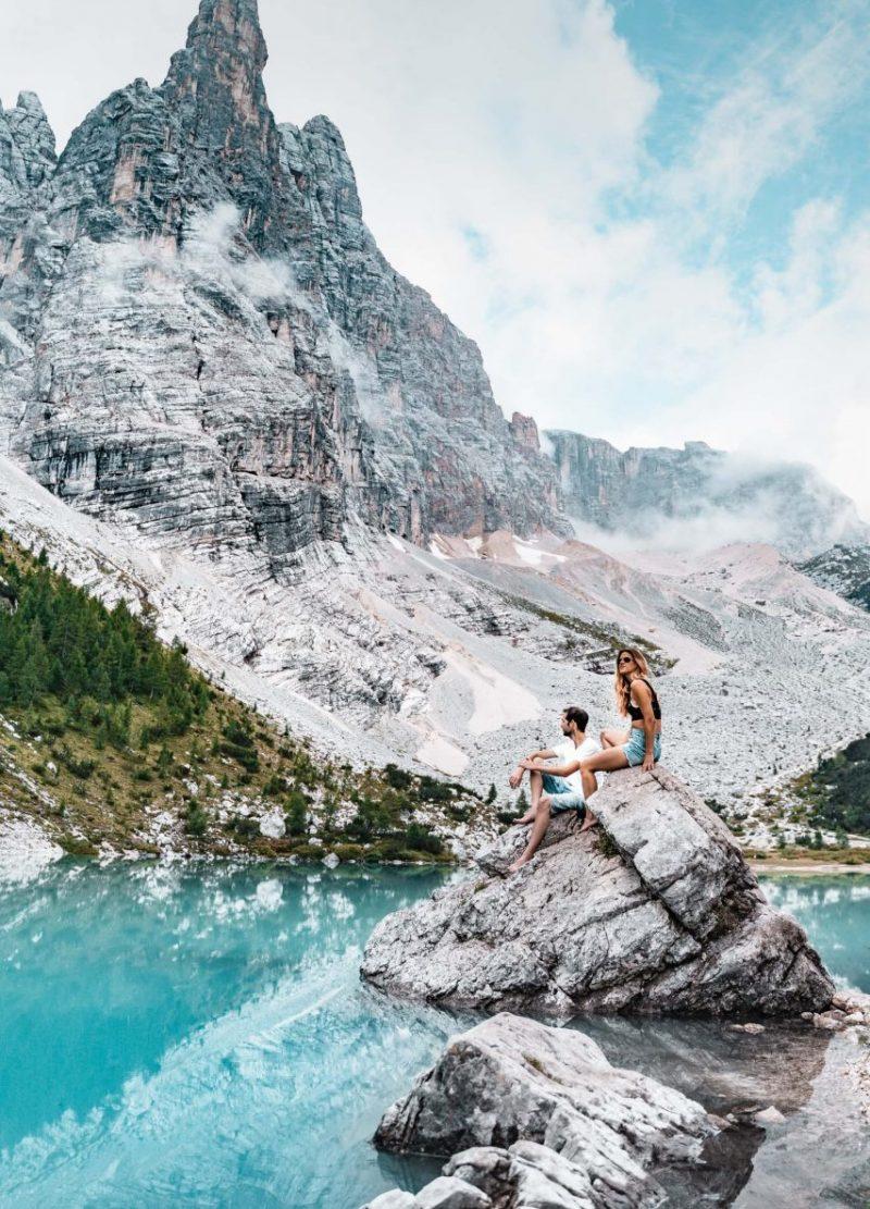 Sorapis See Wanderung in den Dolomiten