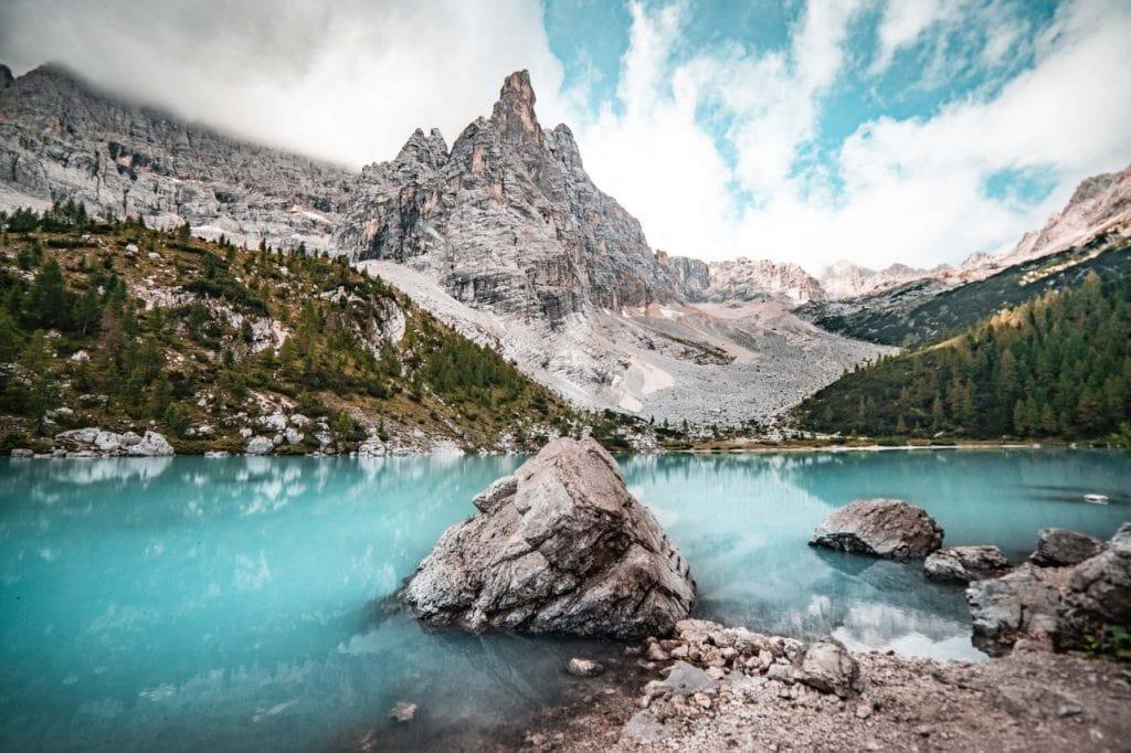 Sorapis See Wanderug Ausblick Dito do Dio Berg